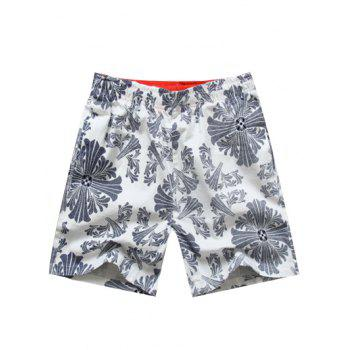 Casual Elastic Waist Printed Men's Shorts