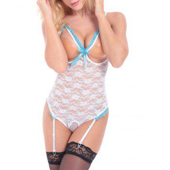 Alluring Women's Spaghetti Strap Hollow Out See-Through Lingerie