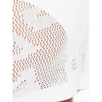 Low Cut Lace-Up See-Thru Cover-Up - WHITE ONE SIZE(FIT SIZE XS TO M)