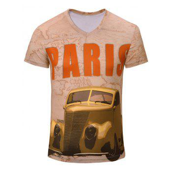 Casual Car Printed Men's Short Sleeves T-Shirt