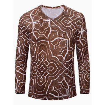 Casual Geometric Figure Printed Men's Long Sleeves T-Shirt