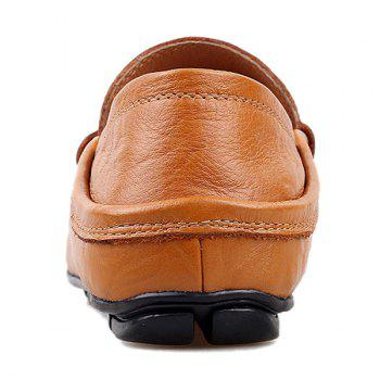 Casual Stitching and Round Toe Design Men's Loafers - 41 41