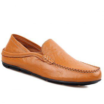 Casual Stitching and Round Toe Design Men's Loafers