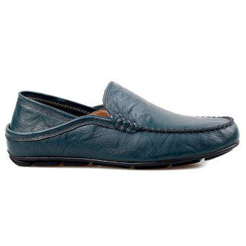 Casual Stitching and Round Toe Design Men's Loafers - 44 44