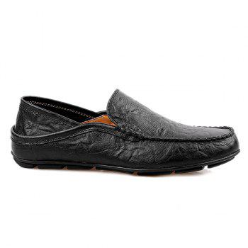 Casual Stitching and Round Toe Design Men's Loafers - 43 43