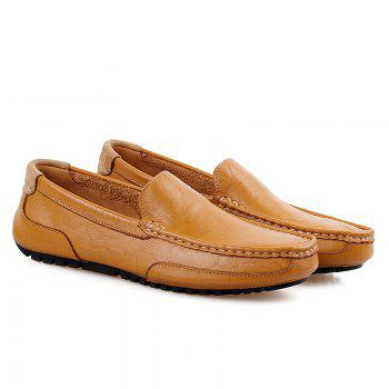Simple Round Toe and Stitching Design Men's Loafers - 43 43