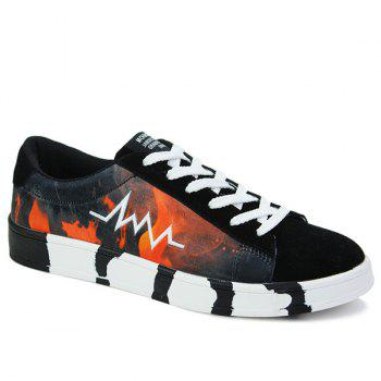 Print Design Casual Shoes For Men