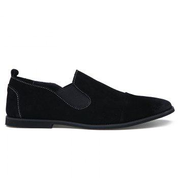 Simple Elastic and Suede Design Men's Casual Shoes - 43 43