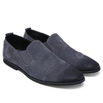 Simple Elastic and Suede Design Men's Casual Shoes - 42 42