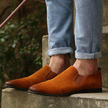 Simple Elastic and Suede Design Men's Casual Shoes - 39 39