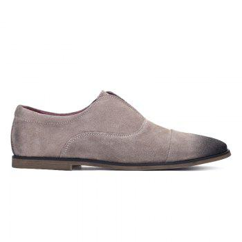 Concise Suede and Slip-On Design Men's Casual Shoes - 43 43