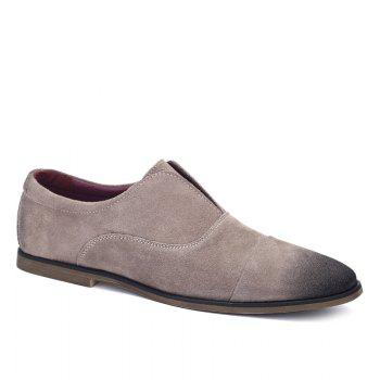 Concise Suede and Slip-On Design Men's Casual Shoes - LIGHT KHAKI 43