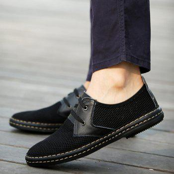 Trendy Solid Color and Breathable Design Men's Casual Shoes - 44 44