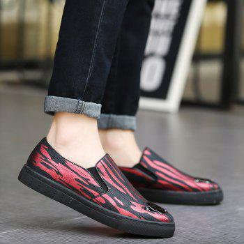 Stylish Metal and Colour Block Design Men's Casual Shoes - RED/BLACK 42