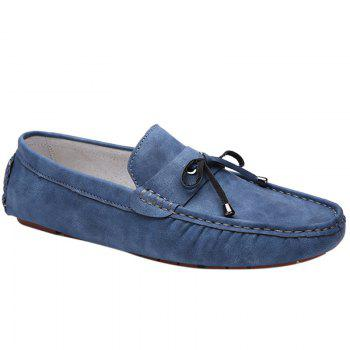 Trendy Stitching and Solid Colour Design Men's Casual Shoes - BLUE 43