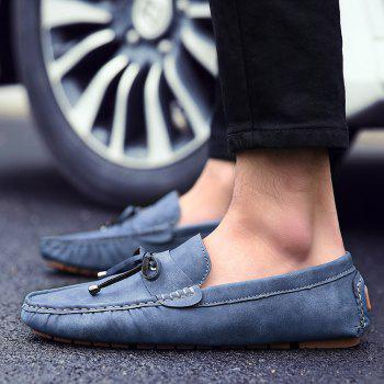 Trendy Stitching and Solid Colour Design Men's Casual Shoes - 43 43