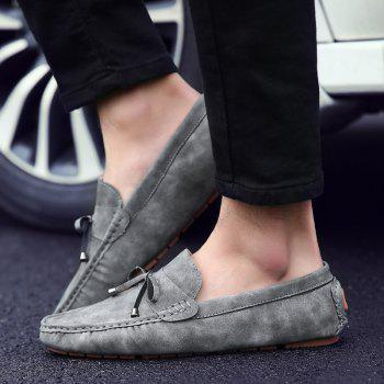 Trendy Stitching and Solid Colour Design Men's Casual Shoes - 44 44