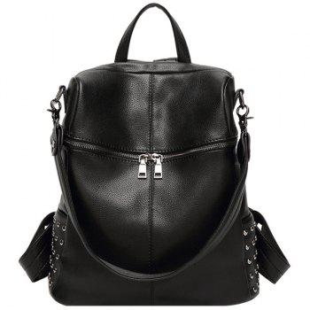 Punk Rivet and PU Leather Design Women's Satchel