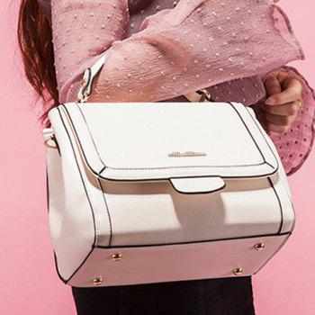 Simple Candy Color and Cover Design Women's Tote Bag - WHITE