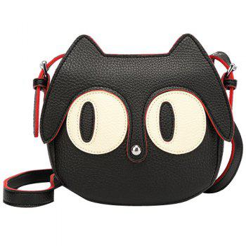 Cute Cat Shape and Black Design Women's Crossbody Bag