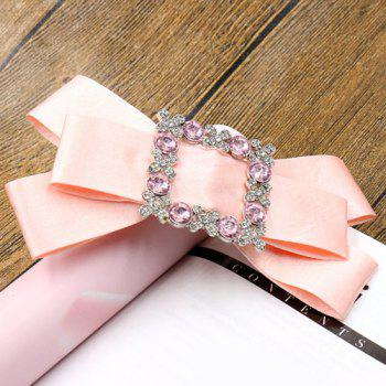 Elegant Rhinestone Bowknot Solid Color Hairpin For Women