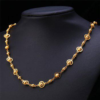 Punk Style Stainless Steel Hollow Out Beads Necklace For Men