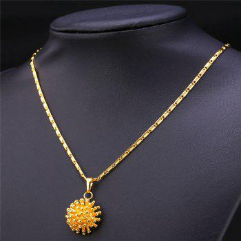 A Suit of Hedgehog Shape Necklace and Earrings - GOLDEN