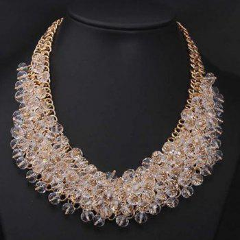 Fake Crystal Beads Statement Necklace