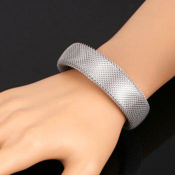 Chic Solid Color Snake Shape Women's Cuff Bracelet