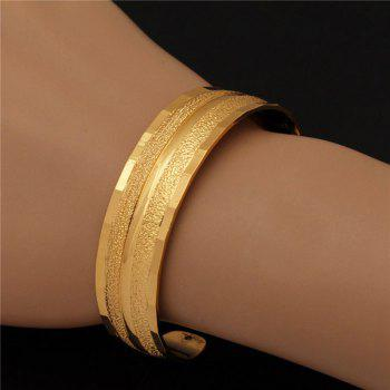 Single Stripy Gold Plated Cuff Bracelet