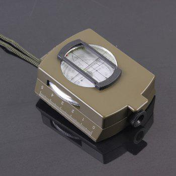 Portable Metal Military Multifunction Noctilucence Compass -  ARMY GREEN