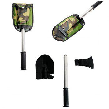 Portable 4 in 1 Multifunction Folding Camping Survival Shovel
