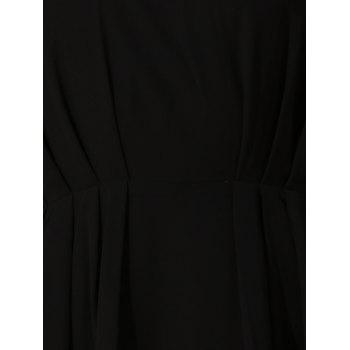 Mini Crochet Chiffon A Line Dress - BLACK S