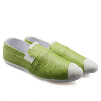 Casual Color Block and Elastic Design Men's Loafers - GREEN 41