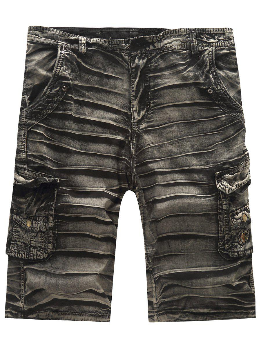 Hot Sale Multi-Pockets Men's Cargo Shorts - BLACK 36