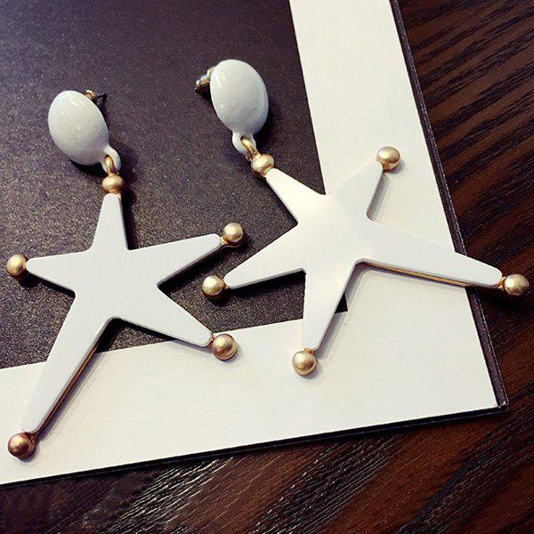 Pair of Chic Small Ball and Big Five-Pointed Star Pendant Women's Earrings - BLACK
