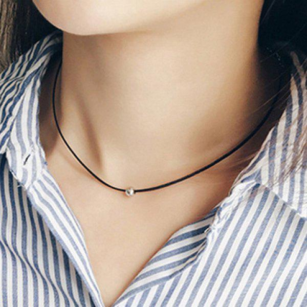 Chic Small Ball Simple Style Women's Black Chokers Necklace