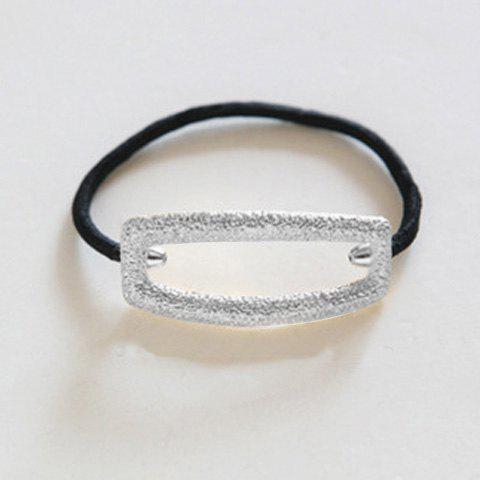 Chic Hollow Rectangle Embellished Women's Elastic Hair Band