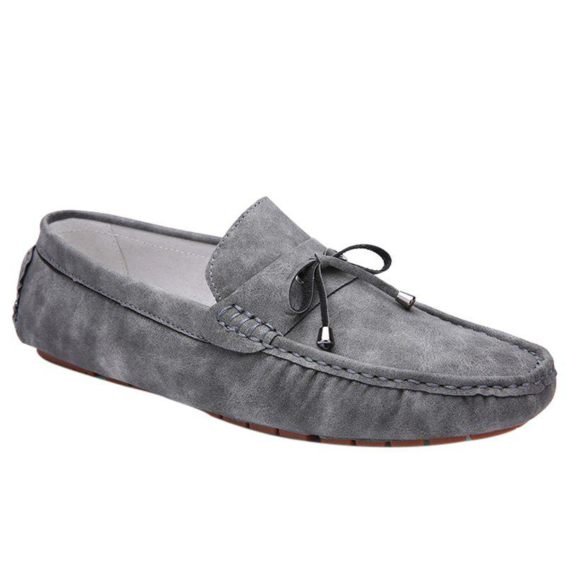 Trendy Stitching and Solid Colour Design Men's Casual Shoes - GRAY 44