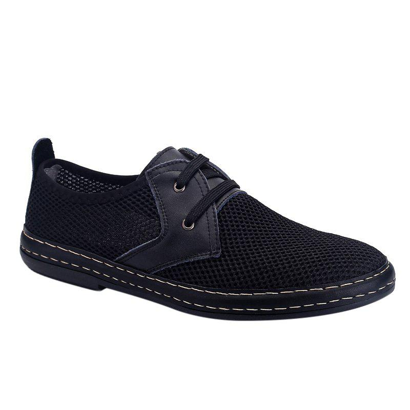 Trendy Solid Color and Breathable Design Men's Casual Shoes - BLACK 44
