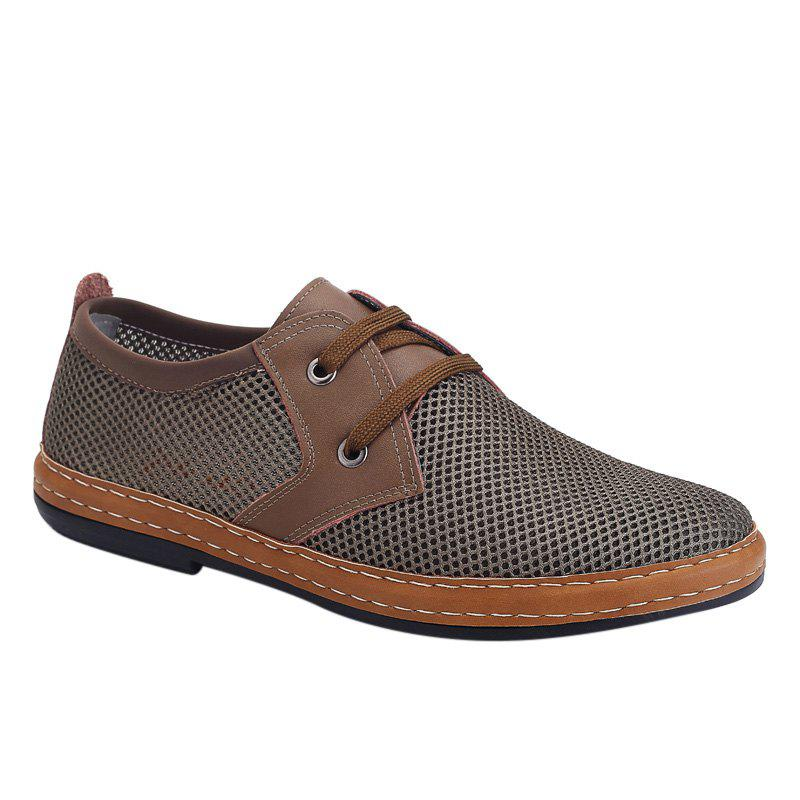 Trendy Solid Color and Breathable Design Men's Casual Shoes