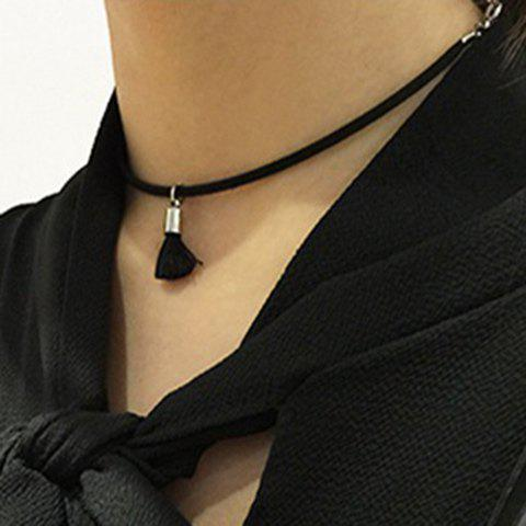 Mini Tassel Chokers Necklace - BLACK