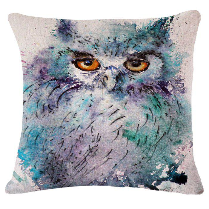 Chic Owl Oil Painting Pattern Square Shape Pillowcase (Without Pillow Inner) - COLORMIX