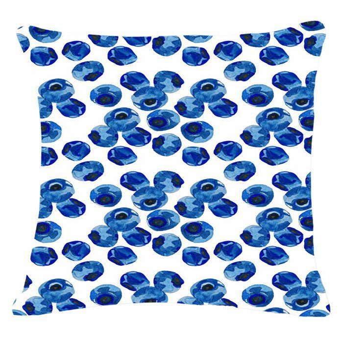 Fashion Fruits Blueberry Pattern Square Shape Flax Pillowcase (Without Pillow Inner) - BLUISH VIOLET