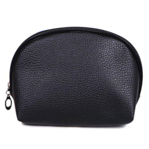 Simple Zipper and Solid Color Design Cosmetic Bag For Women
