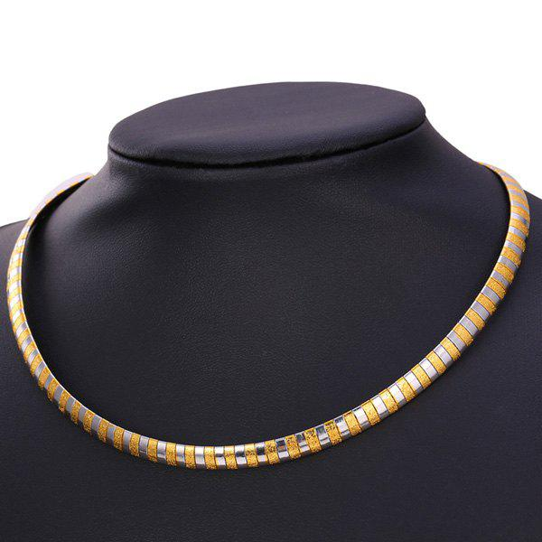 Two Tone Match Snake Shape Alloy Necklace -  GOLDEN