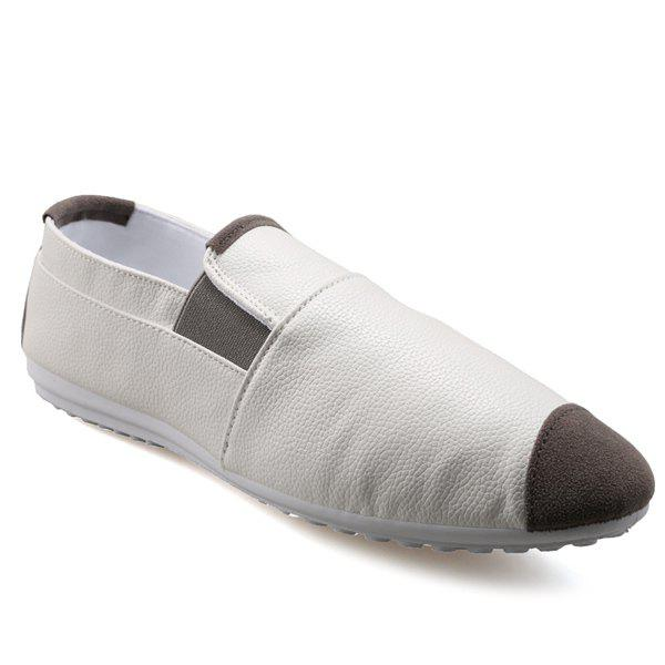 Casual Mocassins Color Block et Elastic Conception Hommes  's - Blanc 41
