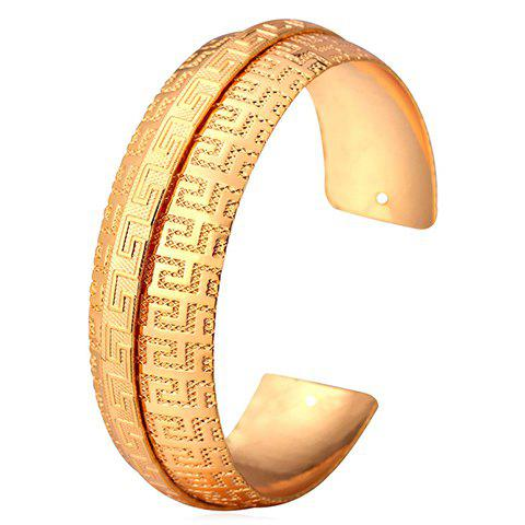 Stainless Steel Cuff BraceletJewelry<br><br><br>Color: GOLDEN