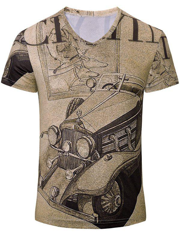Trendy Car Printed Men's Short Sleeves T-Shirt