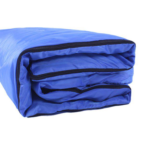 Chic Qualité confortable Cotton Camping à capuche Sac de couchage - Bleu